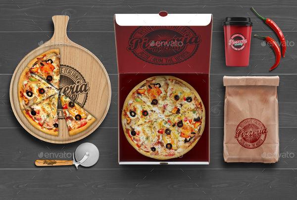 Bakery Branding Pizza Mockup