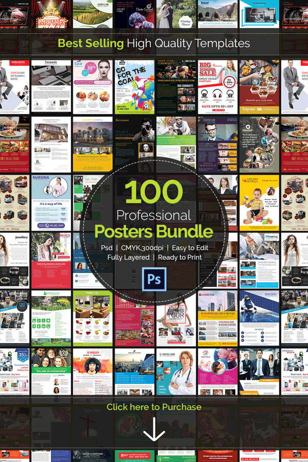 100 High Quality Posters Bundle