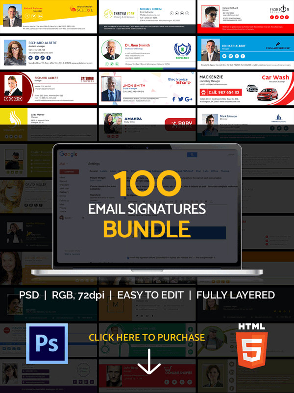 100 Email Signatures Bundle
