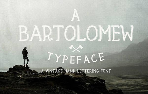 rustic letter font2
