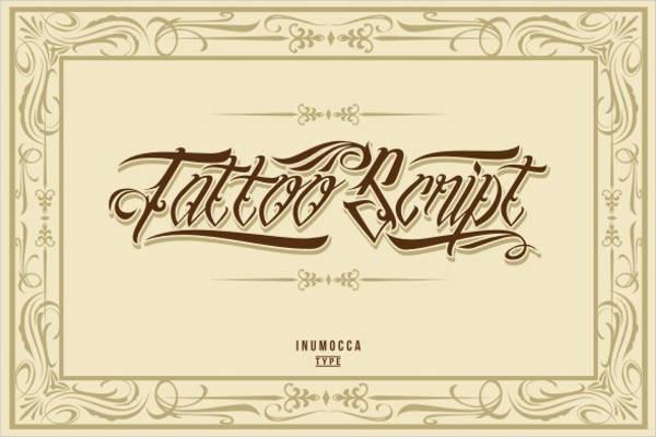 rustic tattoo font2