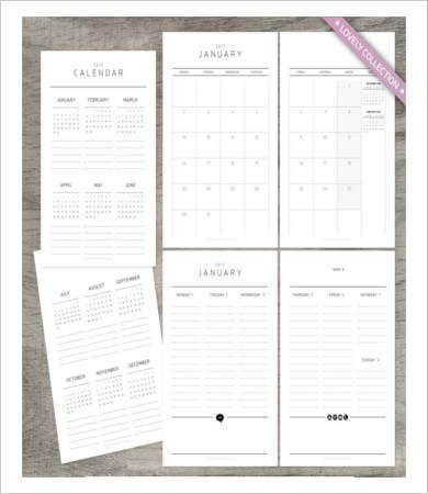 Free Printable Annual Weekly Calendar