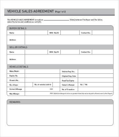 sales agreement 15 free word pdf documents download free