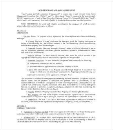 Sales Agreement 28 Free Word Pdf Documents Download