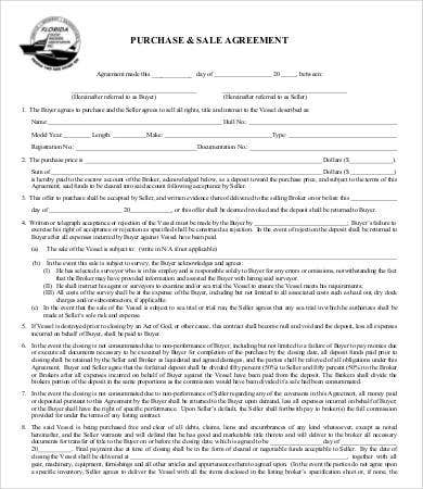 Sales Agreement   Free Word Pdf Documents Download  Free