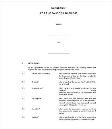 Sales agreement 15 free word pdf documents download free business sales agreement template flashek Image collections