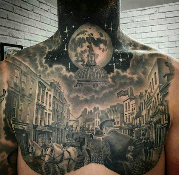 Night Sky Chest Tattoo