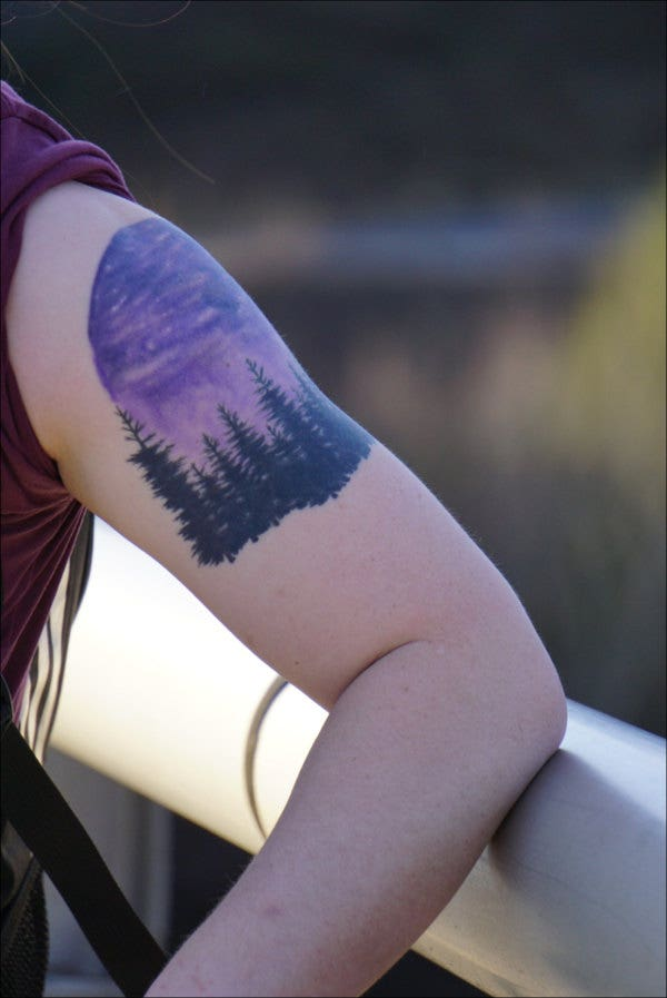 Night Sky Sleeve Tattoo Design