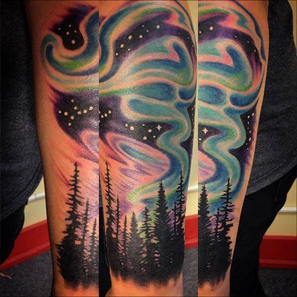 Realistic Night Sky Tattoo