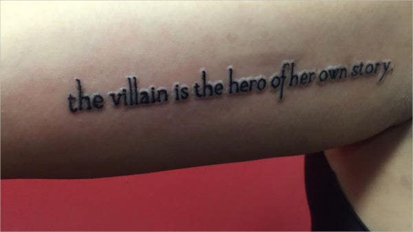 small literary tattoo