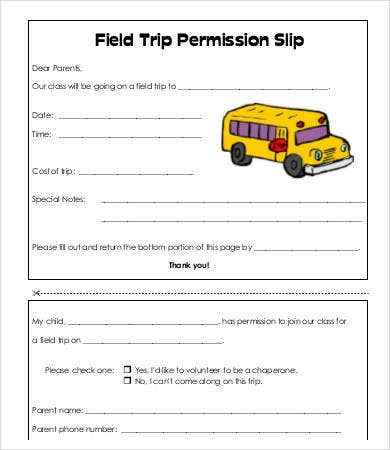 Permission Slip Templates 9 Free Word Pdf Documents Download
