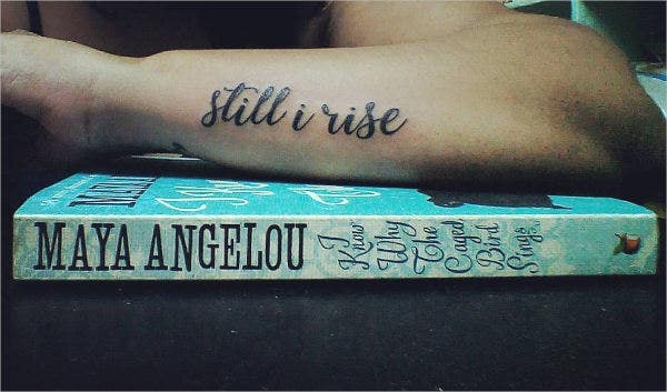 literary arm tattoo