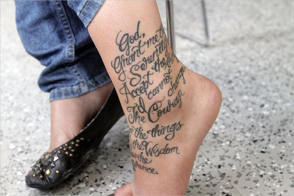 literary foot tattoo