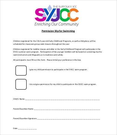 Permission Slip Templates - 9+ Free Word, PDF Documents Download
