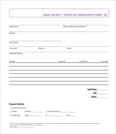 Sales Receipt Template 21 Free Word Pdf Documents