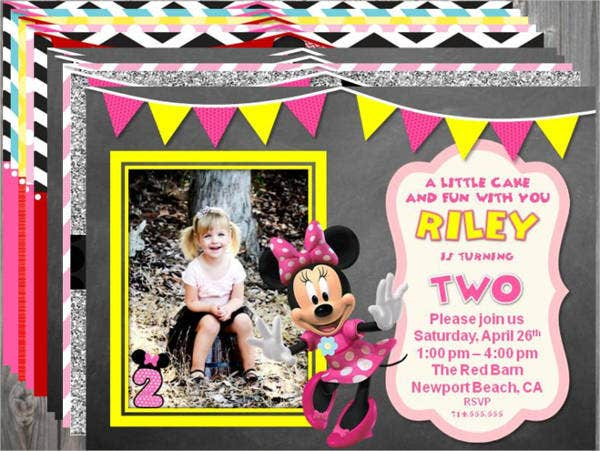 Minnie Mouse Printable Party Invitation