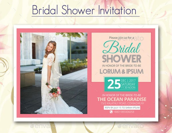 Professional Bridal Shower Invitation