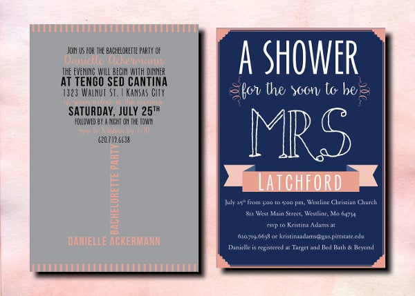 Personal Bridal Shower Invitation