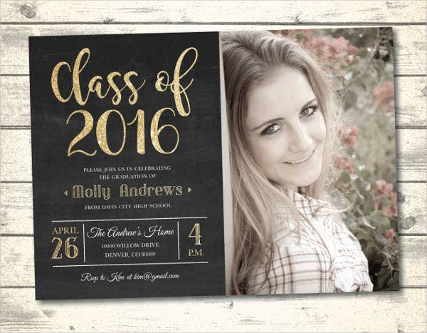 Graduation invitations template 14 free psd vector ai for Senior announcement templates free