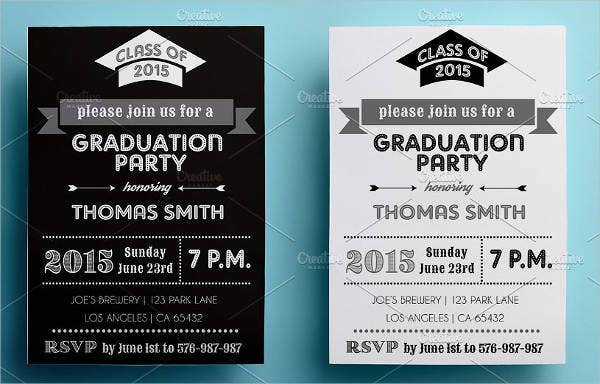 Graduation Invitations Template 8 Free PSD Vector AI EPS – 2015 Graduation Party Invitations