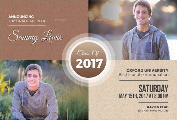 Printable Graduation Invitation Template