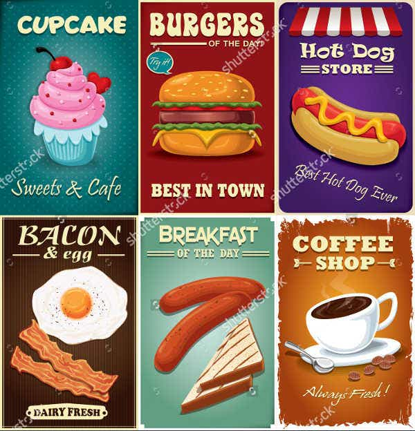 Vintage Fast Food Poster Design