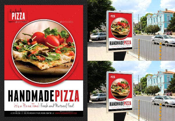 Food and Pizza Poster Template