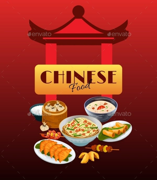 asian food poster design
