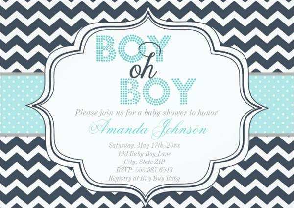 Chevron Print Invitation