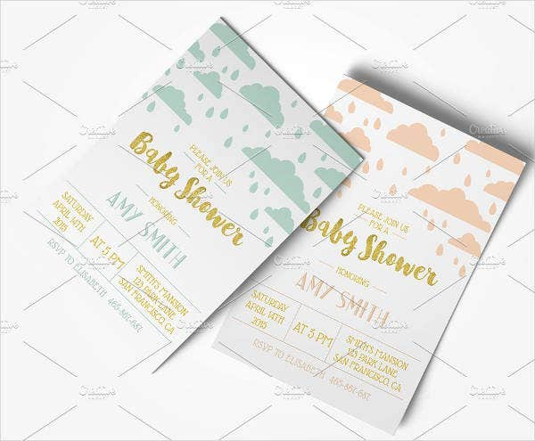 Print baby shower Invitation