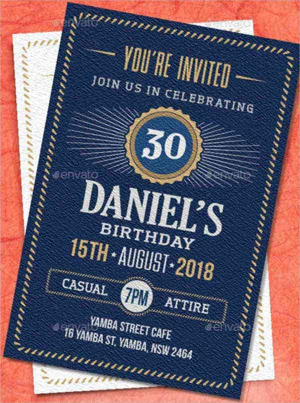 Print birthday Invitation