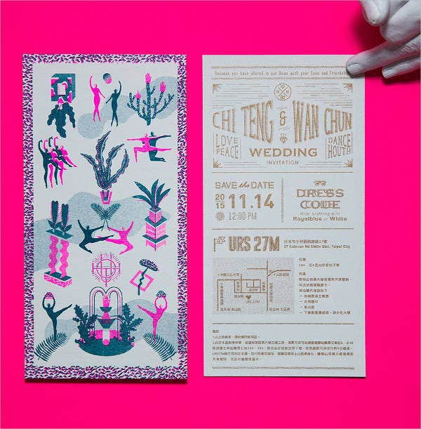Print wedding Invitation