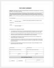 example-fee-payment-agreement-template