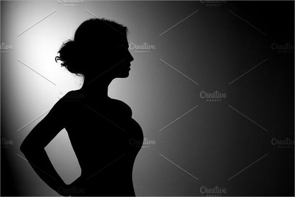black woman silhouette