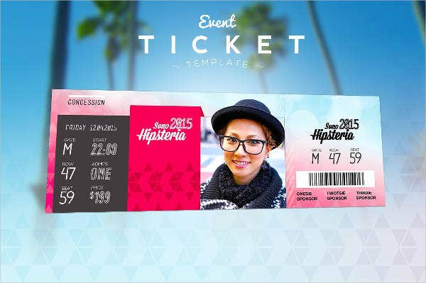 Event raffle Ticket Template