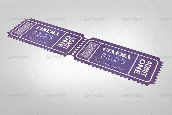 Event Ticket receipt Template