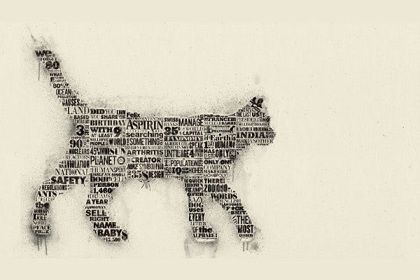 Word Art Cat Design