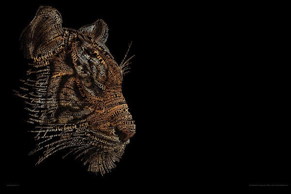 Beautiful Animal Typography Art