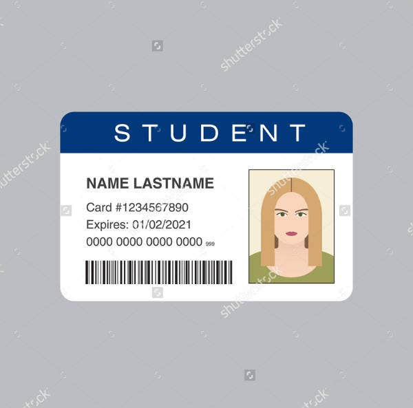 student identification card template