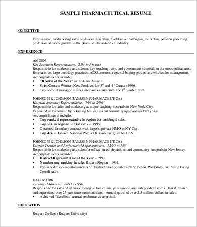 Pharmaceutical Product Manager Resume  Sample Product Manager Resume