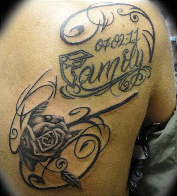 rose family tattoo