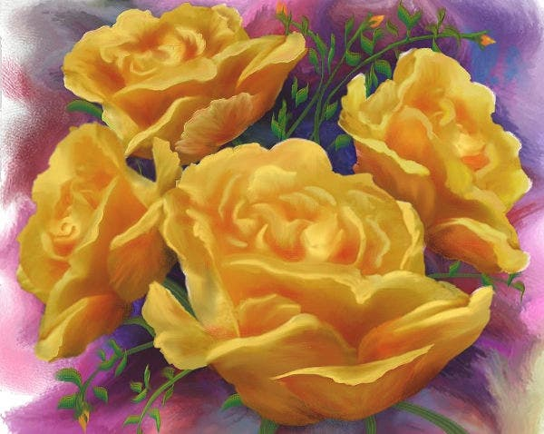 Yellow Roses Floral Design