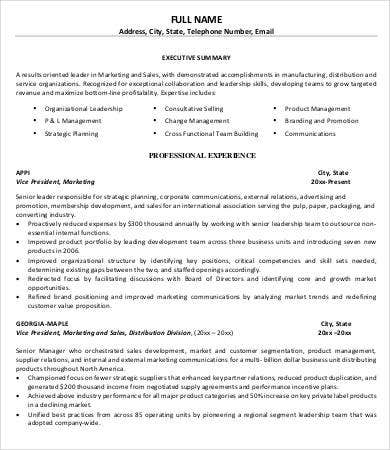 Product Manager Resume - 9+ Free Sample, Example, Format | Free