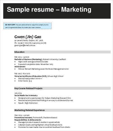 Digital Marketing Associate Resume
