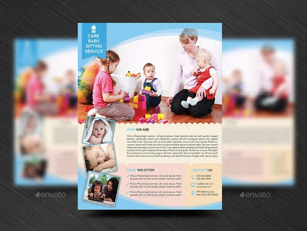 babysitting daycare flyer template