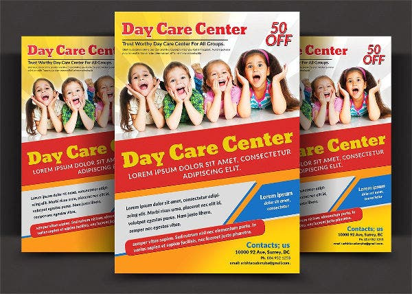 kids daycare center flyer