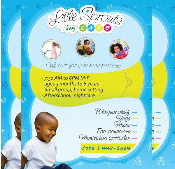 16 beautiful day care flyer templates free premium for Daycare brochure template