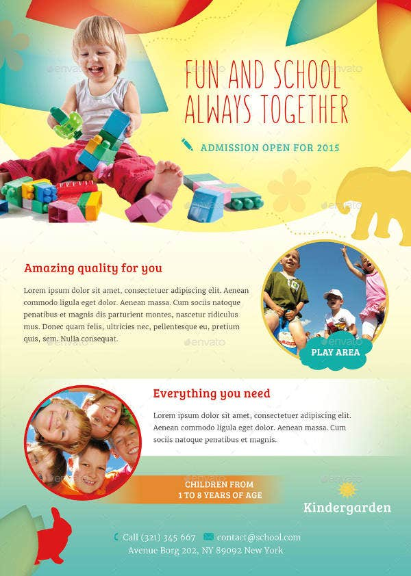 Beautiful DayCare Flyer Templates  Free  Premium Templates