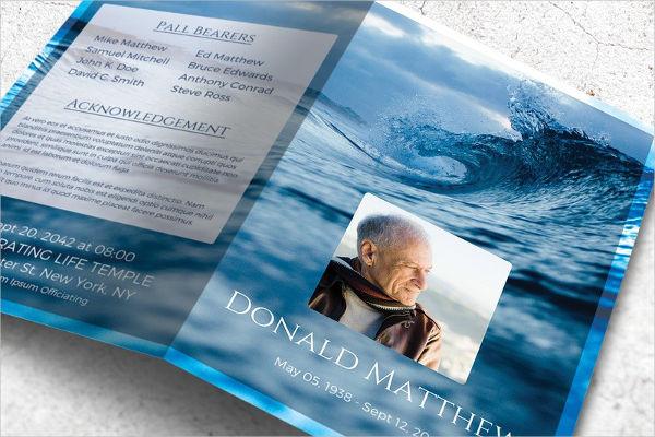 Memorial Booklet Template