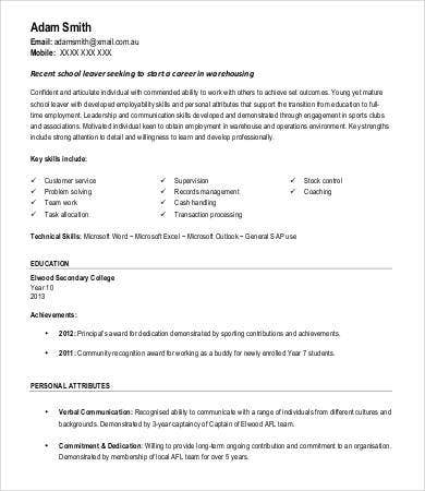 Warehouse Worker Resume No Experience  General Warehouse Worker Resume